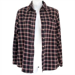 Brandy Melville Plaid Flannel Button Front Shirt
